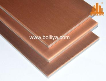Bolliya Copper composite panels for walls